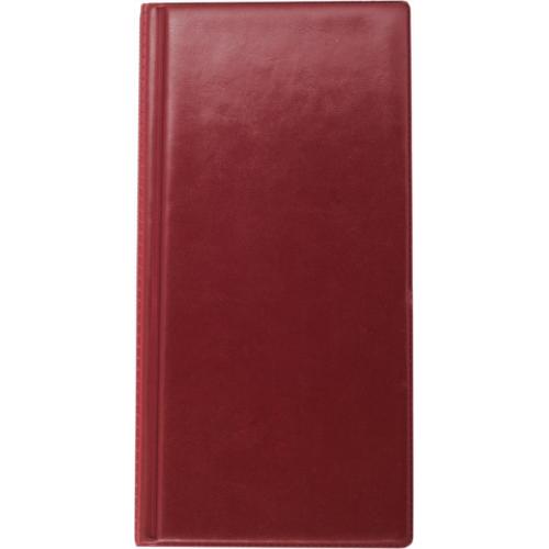 Визитница виниловая BUROMAX на 96 визиток, бордовый