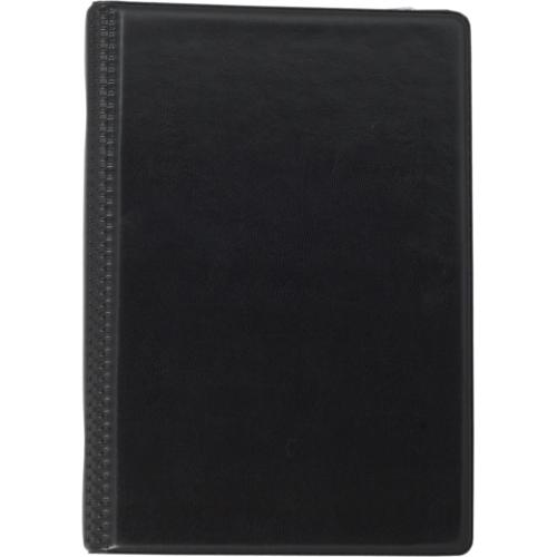 Визитница виниловая BUROMAX на 120 визиток, черный