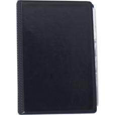 Визитница виниловая BUROMAX на 120 визиток, темно-синий