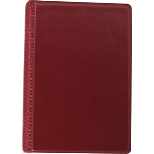 Визитница виниловая BUROMAX на 120 визиток, бордовый