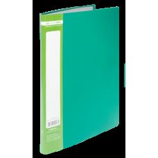 Папка пластиковая c 10 файлами А4 JOBMAX, зеленый