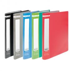 Папка пластиковая c 10 файлами А4 JOBMAX, серый