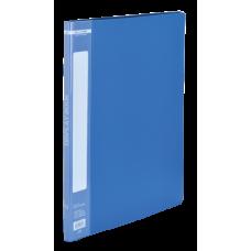 Папка пластиковая c 10 файлами А4, синий