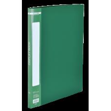 Папка пластиковая c 10 файлами А4, зеленый