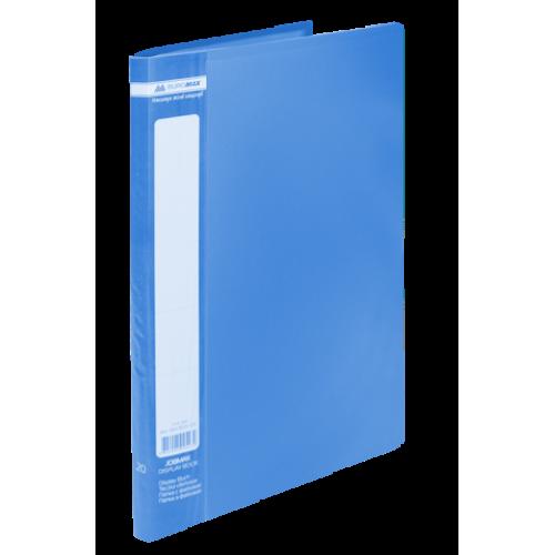Папка пластиковая c 20 файлами А4 JOBMAX, синий