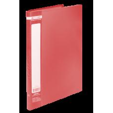 Папка пластиковая c 20 файлами А4 JOBMAX, красный