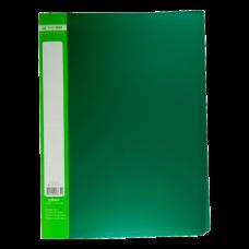 Папка пластиковая c 30 файлами А4 JOBMAX, зеленый