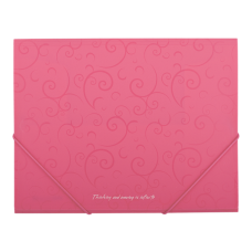 Папка пластиковая А5 на резинках, BAROCCO, розовый