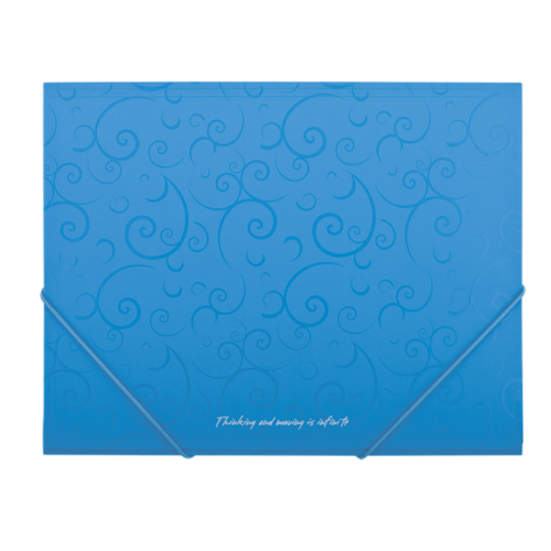 Папка пластиковая А5 на резинках, BAROCCO, голубой
