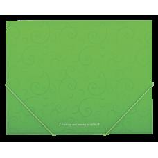 Папка пластиковая А5 на резинках, BAROCCO, салатовый
