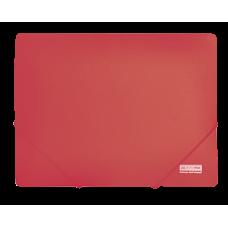 Папка пластиковая А4 на резинках, JOBMAX, красный