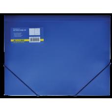 Папка пластиковая BUROMAX, А4 на резинках, синий