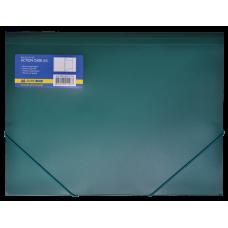 Папка пластиковая BUROMAX, А4 на резинках, зеленый