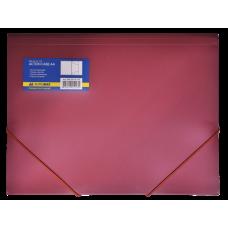 Папка пластиковая BUROMAX, А4 на резинках, красный
