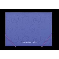 Папка пластиковая А4 на резинках, BAROCCO, фиолетовый