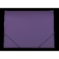 Папка пластиковая А4 на резинках GLOSS, фиолетовый