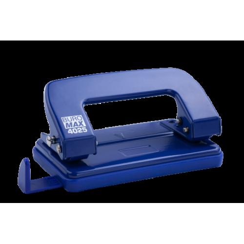 Дырокол металлический BUROMAX, 10 листов, синий