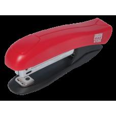 Степлер пластиковый BUROMAX, 12 листов, (скобы №10), красный