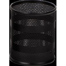 Подставка для ручек круглая BUROMAX, металлическая, черный