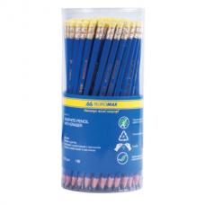 Карандаш графитовый JOBMAX НВ, пластиковый, синий