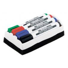 Комплект: 4 маркера + губка для сухостираемых досок