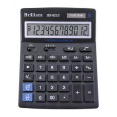 Калькулятор Brilliant BS-0222, 12 разрядов