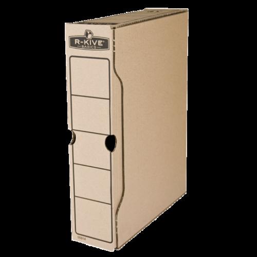 """Бокс для архивации R-Kive Basics 80 мм, 650 листов А4, цвет """"крафт"""""""