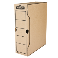 """Бокс для архивации R-Kive Basics 100 мм, 850 листов А4, цвет """"крафт"""""""