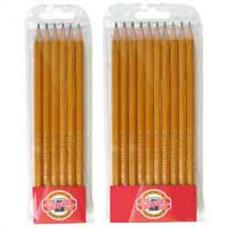 Набор из 10-ти технических чернографитных карандашей