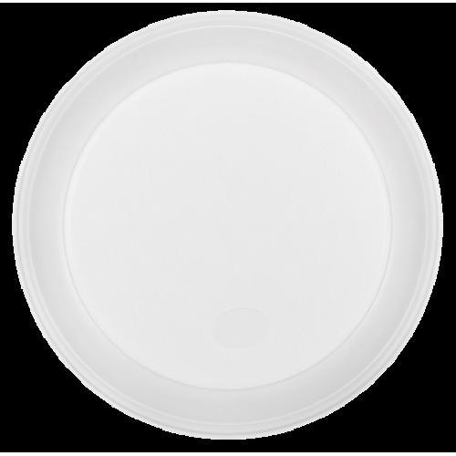 Тарелка одноразовая, d-205 мм, белая, 1-секция, 5,5-6 г, 100 шт