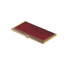 Футляр для визиток металлический, красное дерево