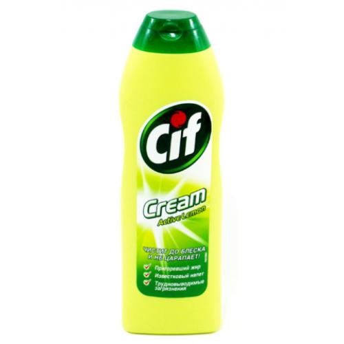 Крем чистящий CIF, 250мл, Актив Лимон