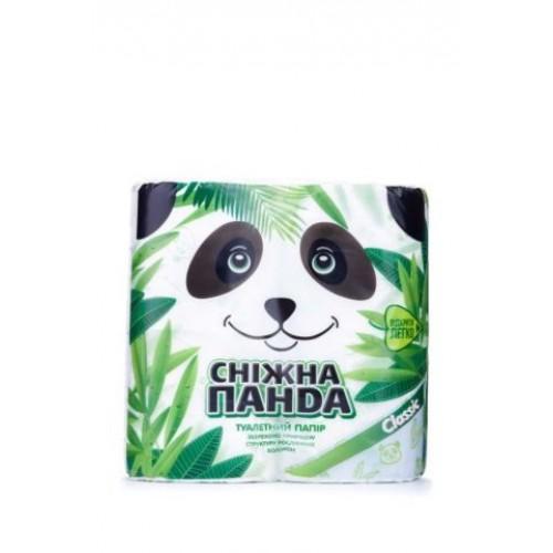 Туалетная бумага Снежная Панда Классик, белая