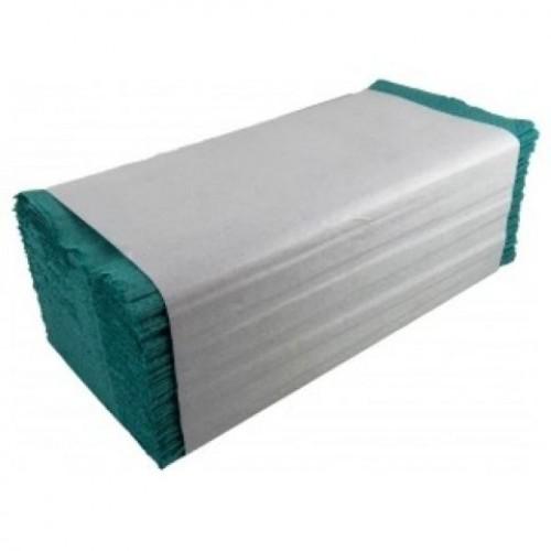 Полотенца бумажные Альбатрос V-сложения зеленые 160 листов