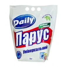Универсальный стиральный порошок «Парус» Daily для ручной стирки 3 кг