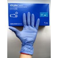 Nitrylex Basic перчатки нитриловые, нестерильные, без пудры, р.8-9 (L)