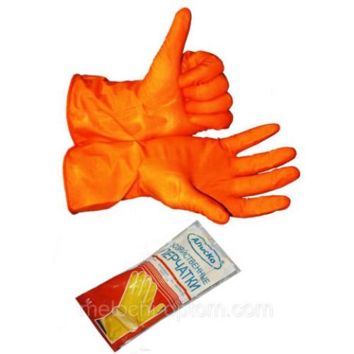"""Перчатки хозяйственные """"Алиско"""" (М) латексные, для бытового использования"""
