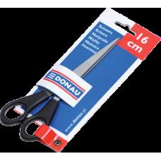 Ножницы офисные 16см, пластиковые ручки, открытый блистер