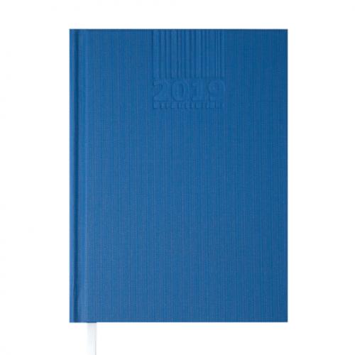 Ежедневник датированный 2019 BRILLIANT, A5, 336 стр., синий