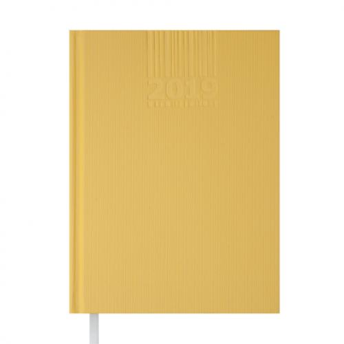 Ежедневник датированный 2019 BRILLIANT, A5, 336 стр., желтый