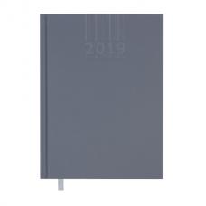 Ежедневник датированный 2019 BRILLIANT, A5, 336 стр., серый