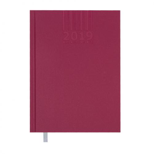 Ежедневник датированный 2019 BRILLIANT, A5, 336 стр., вишневый