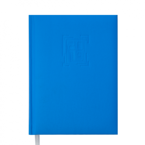 Ежедневник датированный 2019 MEMPHIS, A5, 336 стр., голубой