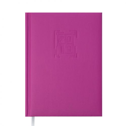Ежедневник датированный 2019 MEMPHIS, A5, 336 стр., малиновый