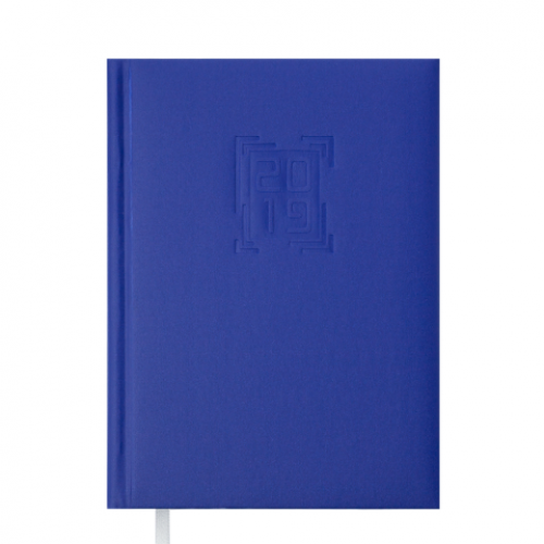 Ежедневник датированный 2019 MEMPHIS, A5, 336 стр., синий электрик