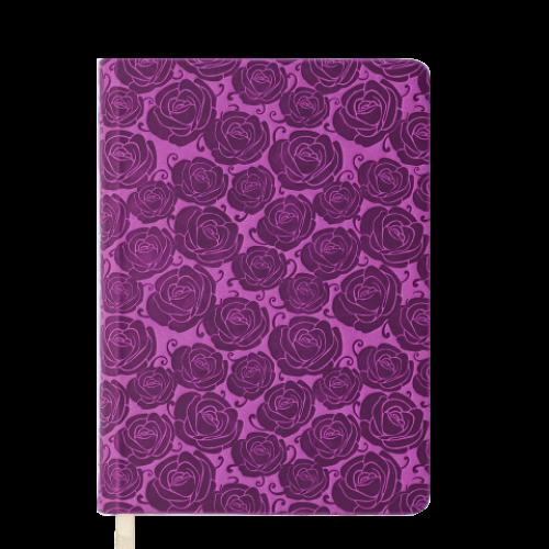 Ежедневник датированный 2019 FLEUR, A5, 336 стр., розовый