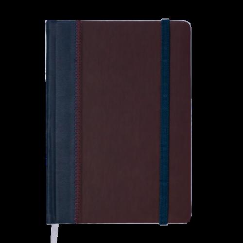 Ежедневник датированный 2019 SIENNA, A5, 336 стр., т-синий с бордовым