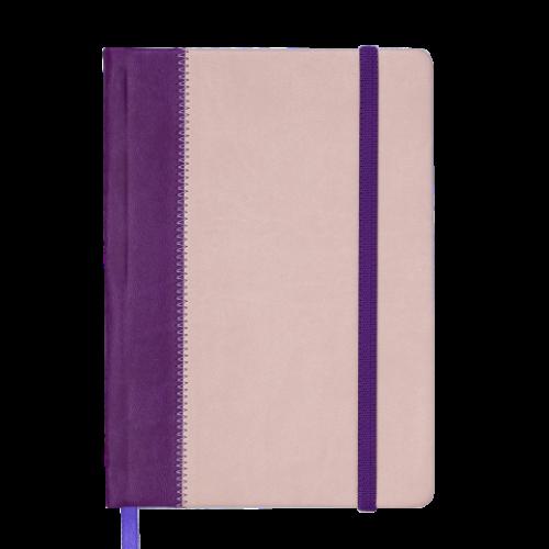Ежедневник датированный 2019 SIENNA, A5, 336 стр., фиолетово-бежевый