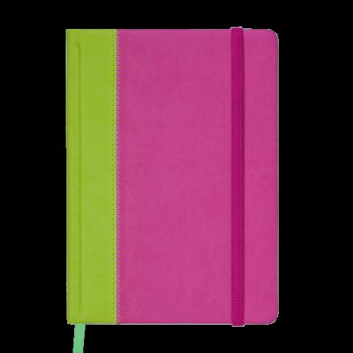 Ежедневник датированный 2019 SIENNA, A5, 336 стр., салатово-розовый