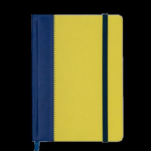 Ежедневник датированный 2019 SIENNA, A5, 336 стр., сине-желтый